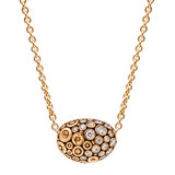 """Bean"" 18k Rose Gold & Diamond Pendant"