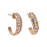 "Large 18k Pink Gold & Gem-Set ""Candy"" Earrings"