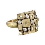 """Little Windows"" 18k Gold & Diamond Dome Ring"