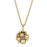 "18k Gold & Diamond ""Little Windows"" Pendant"