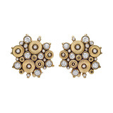 """Ocean"" 18k Gold & Diamond Earrings"