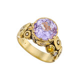 """Orchard"" Purple Sapphire Ring with Diamond"