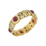 Ruby & Diamond Band Ring