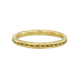 "18k Gold ""Single Dash"" Wedding Band"