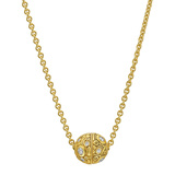 ​18k Yellow Gold & Diamond Ball Pendant