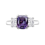 Cushion-Cut Alexandrite & Diamond Ring