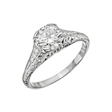 Antique 1.30 Carat Circular Brilliant Diamond Ring