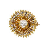 Antique Diamond Flower Pin
