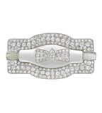 Antique French Rock Crystal & Diamond Brooch