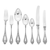 Antique Russian Silver Flatware Set