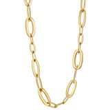 ​​18k Yellow Gold Flattened Oval Link Necklace