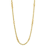 ​18k Yellow Gold Cable Chain Long Necklace