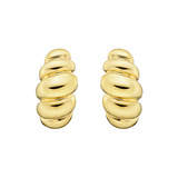 18k Yellow Gold Fluted Half-Hoop Earrings