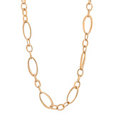 ​18k Pink Gold Oval Link Necklace