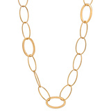 18k Pink Gold Oval Link Long Necklace