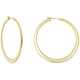 Extra Large 18k Gold Round Hoop Earrings
