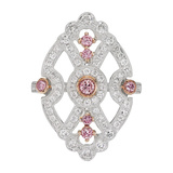 ​Pink & White Diamond Shield Ring