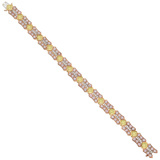 Pink, Yellow & White Diamond Bracelet