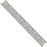 Art Deco Diamond Foliate Panel Bracelet