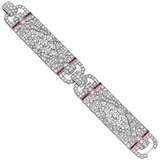 ​Art Deco Diamond & Ruby Bracelet