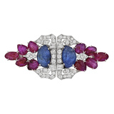 ​Art Deco Gem-Set 'Tutti Frutti' Clip Brooch