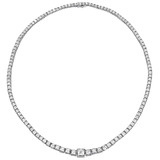 Asscher-Cut Diamond Line Necklace (~35 ct tw)
