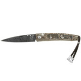 """Ventana"" Damascus Folding Knife with Turtella Jasper"