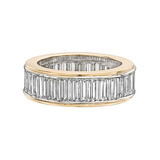 Baguette-Cut Diamond Eternity Band Ring (~5.60 ct tw)