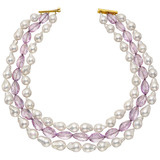 Baroque Pearl & Amethyst Bead Necklace