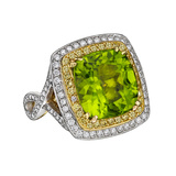 Peridot & Diamond Cocktail Ring