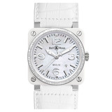 BR 03-92 Automatic White Ceramic &amp; Diamonds
