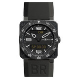 "BR 03-92 ""Aviation"" Quartz Steel Carbon"