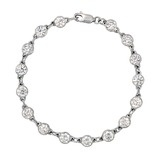 Round Brilliant Diamond Link Bracelet (~5 ct tw)