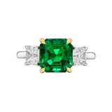 2.42 Carat Colombian Emerald & Diamond Ring