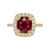 ​3.96 Carat Burmese Ruby & Diamond Ring