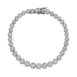 Bezel-Set Round Brilliant Diamond Line Bracelet (~8.9 ct tw)
