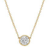 2.52 Carat Round Brilliant Diamond Solitaire Pendant