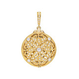 18k Gold & Diamond Picture Frame Locket