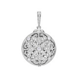 ​18k White Gold & Diamond Picture Frame Locket