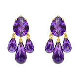 18k Gold & Amethyst Chandelier Earrings