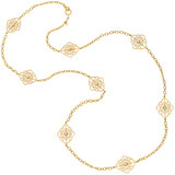 "18k Gold & Diamond ""Arabesque"" Station Necklace"