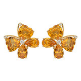 18k Gold & Citrine Butterfly Earrings