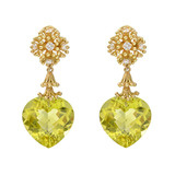 """Fandango"" Lemon Citrine Drop Earrings with Diamond"