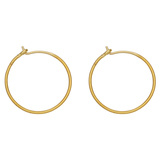 "18k Yellow Gold ""Knurled"" Hoop Earrings"