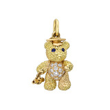​Graduate Teddy Bear 18k Gold & Diamond Charm