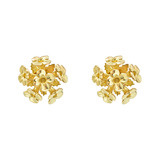 18k Gold Lantana Blossom Stud Earrings