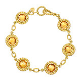 18k Gold Bezel-Set Citrine Bracelet