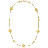18k Gold Small & Large Sunflower Necklace