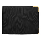 Black Moire & 14k Gold Dress Wallet
