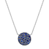 Medium 18k White Gold & Sapphire Circle Pendant